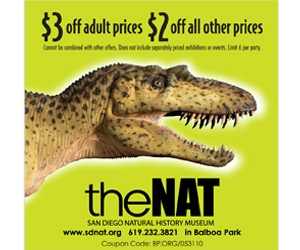 San Diego Natural History Museum Coupon